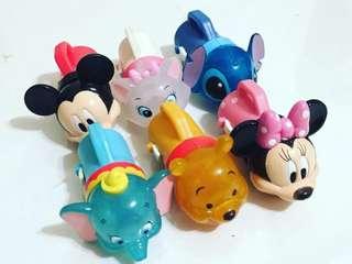 迪士尼扭蛋 手電筒造型/米妮/米奇/小飛像/瑪莉貓/史迪奇/小熊維尼/收藏多年已絕版