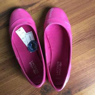 Lacoste Sport Ortholite Pink Leather Shoes With Tags