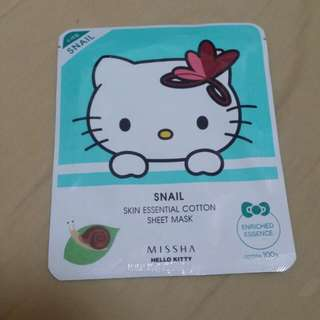 Missha 蝸牛面膜 Hello Kitty