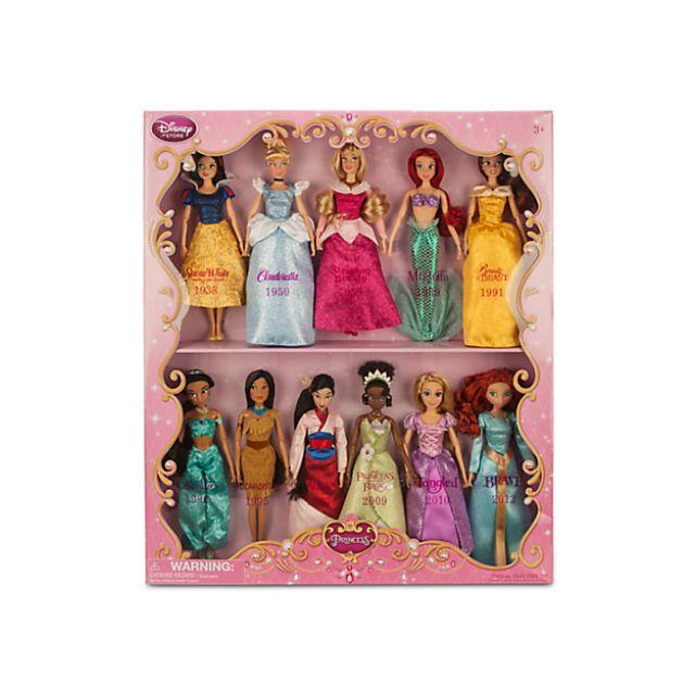 迪士尼公主經典娃娃系列禮品套裝12入