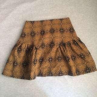 (全新)類豹紋裙