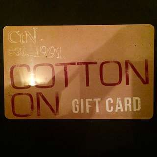 $49.95 Cotton On Gift Card