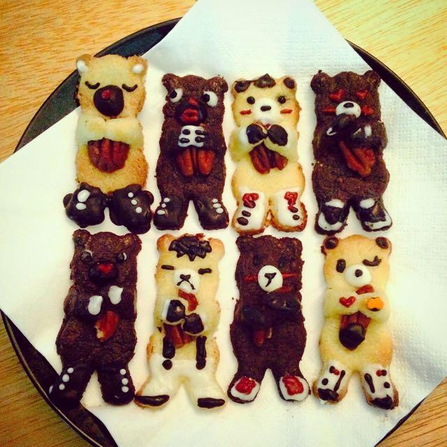 小熊抱胡桃餅乾(訂做)