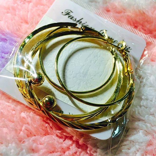 復古銀製耳環