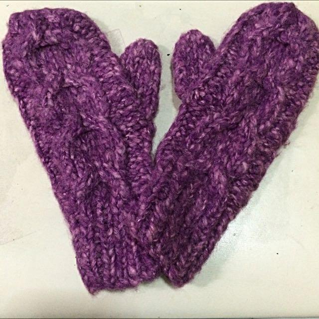 暖呼呼❄️麻花編織毛線手套