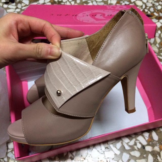 降價  韓系裸粉色高跟涼鞋 22.5號