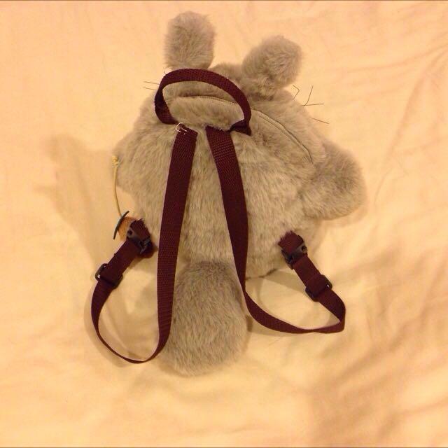 可刷卡- 二手- 超可愛日本進口幼兒龍貓背包~只用過兩次!非常精緻小背包!