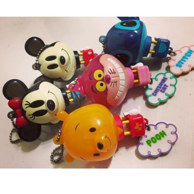 迪士尼扭蛋 熱氣球照型 米妮/米奇/小熊維尼/笑笑貓/史迪奇/2007年8月發售/收藏多年已絕版