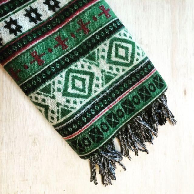 綠色幸運草 全新 厚 毛毯 羊毛