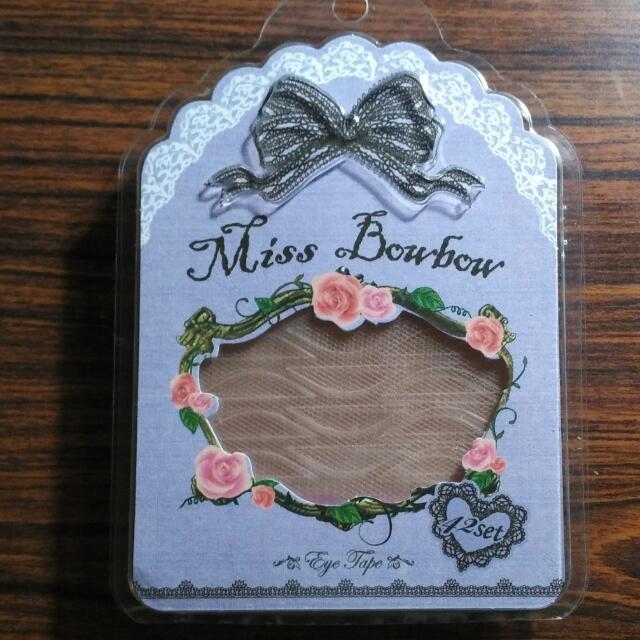 (保留) 🎉降 含運 Miss Bowbow 蕾絲隱形雙眼皮貼溫和版 付夾子