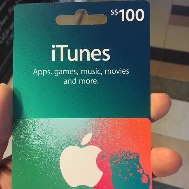 Apple iTunes 100$ Topup Card, Entertainment on Carousell