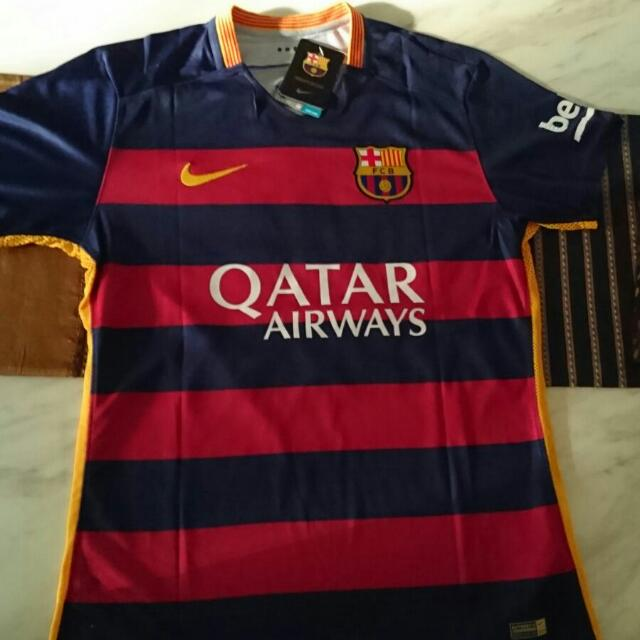 best cheap edad2 64cc3 AUTHENTIC NEW* FC Barcelona Home Kit 15/16, Sports on Carousell