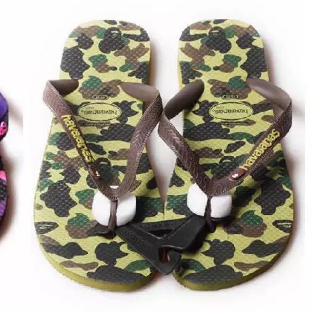 d2549aefddf4 Bape X Havaianas Slippers (Green)