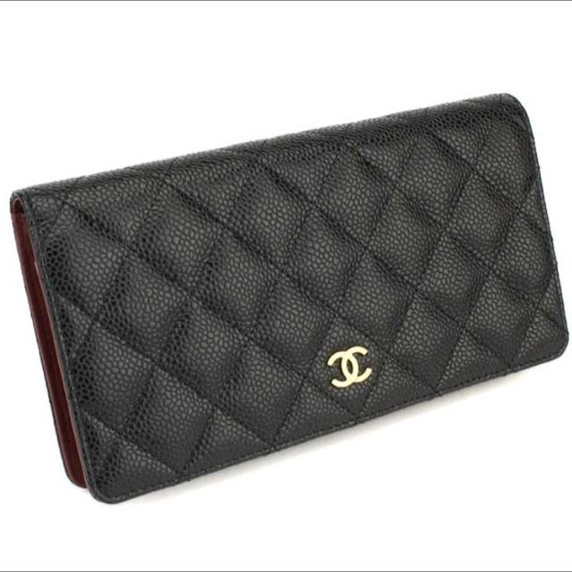 0dbea388cc6186 Chanel Wallet In Quilted Grained Calfskin (Caviar), Luxury on Carousell