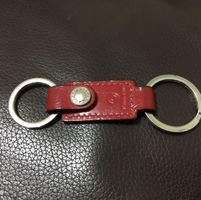 二手coach時尚紅活動式鑰匙圈