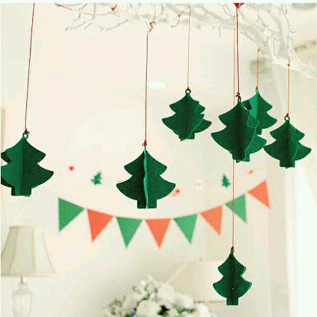 《HONEY PARTY》❤聖誕樹立體掛飾 ❤ 活動佈置/聖誕派對/聖誕櫥窗裝飾~merry christmas
