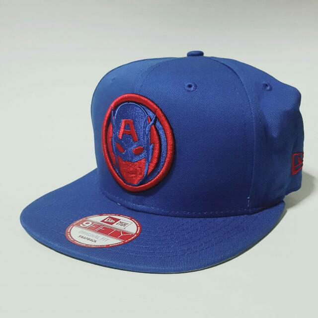 6cc77aa7eeb Instock New Era Captain America 9FIFTY Original Fit Snapback Cap ...