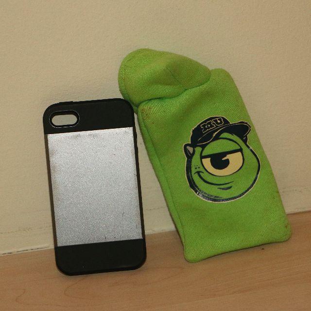 Iphone 4 case plus monster inc holder
