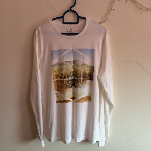 *SALE* Jules White Soft Cotton Long Sleeve Tee