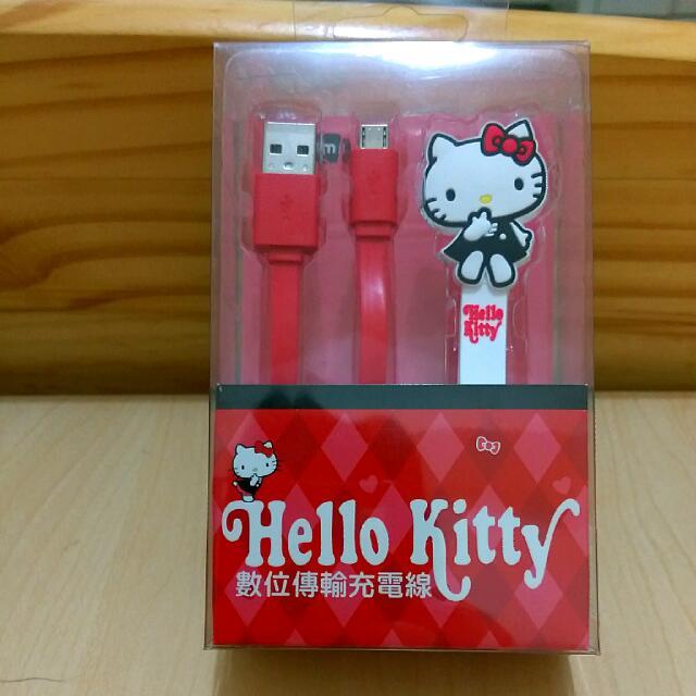 (保留待匯款)Kitty凱蒂貓充電傳輸線