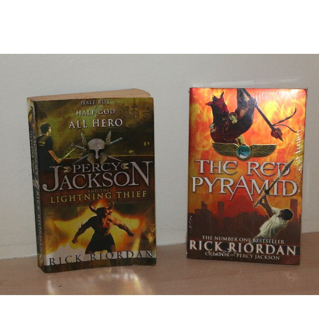 Percy jackson series Books: The lighting Thief, The Red Pyramid