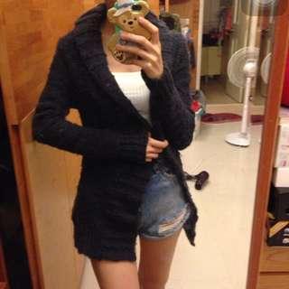 🚚 Mango粗針織毛衣單釦外套