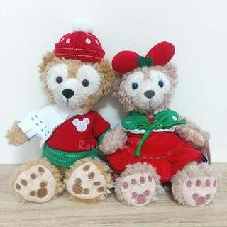 🆕香港2015聖誕節限定🎄達菲&雪莉玫ss號娃娃⛄