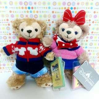 🆕香港2015冬季限定❄毛衣款達菲&雪莉玫吊飾