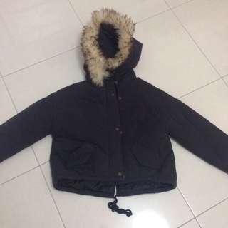 Style Nanda 防風 鋪棉 短版 後開衩 保暖 軍裝 外套 近全新 無吊牌 換季 出清