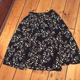 Black And White High Waisted Skirt