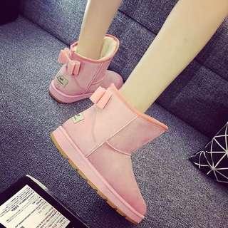 新款蝴蝶結雪靴