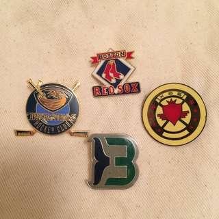 冰上曲棍球 Ice Hockey 徽章、別針