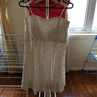 FOREVER NEW White Strapless Skater dress