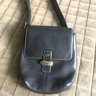Braun Buffel Leather Sling Bag