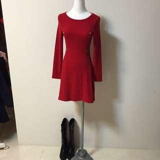 針織小洋裝
