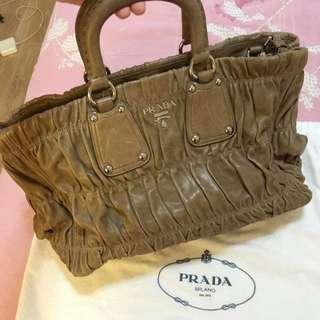 Prada Leather Laptop / Document Bag
