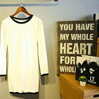 針織休閒款毛衣長版連身裙