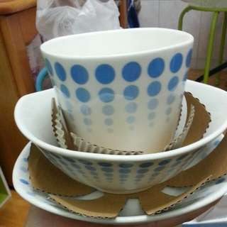 藍色 普普風 三件餐具組🍴🍴🍴