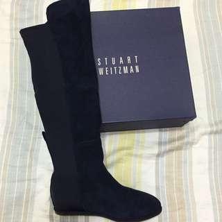 Stuart Weitzman 5050 好萊塢麂皮膝上靴