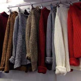 🚚 微高領毛衣