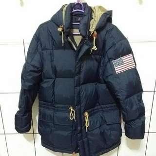 韓國帶回 深藍色羽絨外套