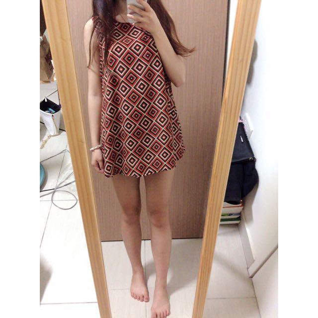 (正韓)古著風格後拉鍊洋裝