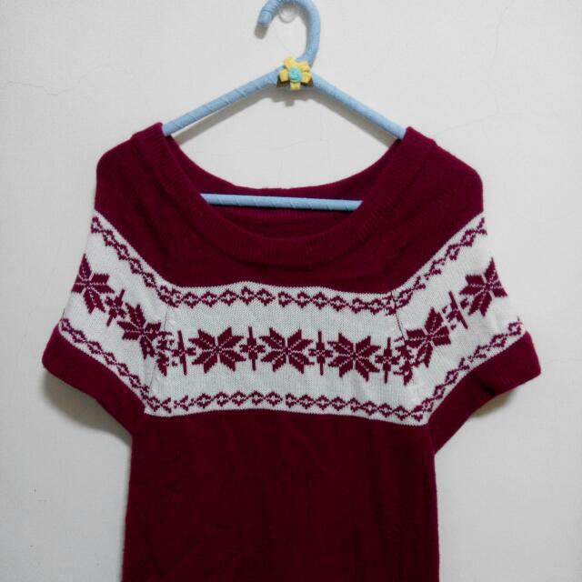 聖誕紅毛衣洋裝