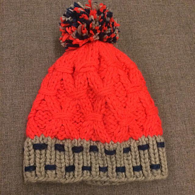 橘紅色毛帽❤️
