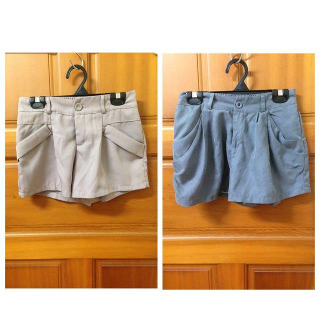 西裝感短褲(粉/灰)