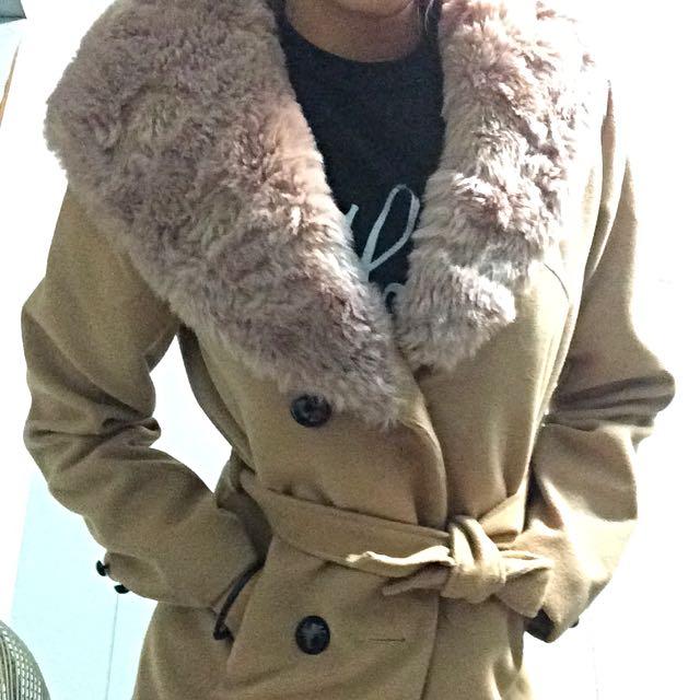 毛呢風衣外套