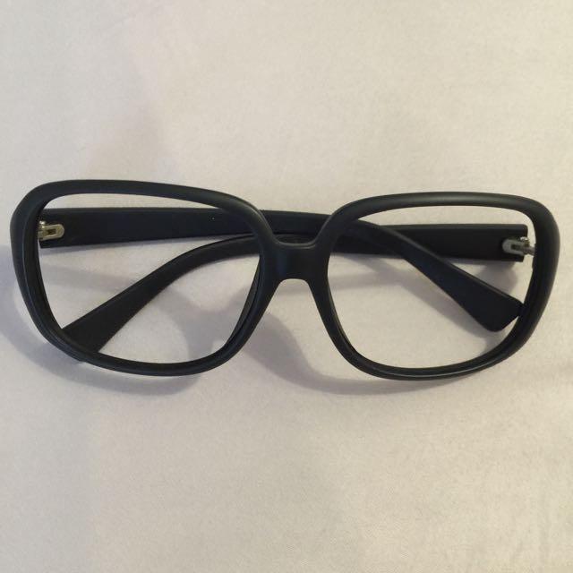 無鏡片造型黑框眼鏡