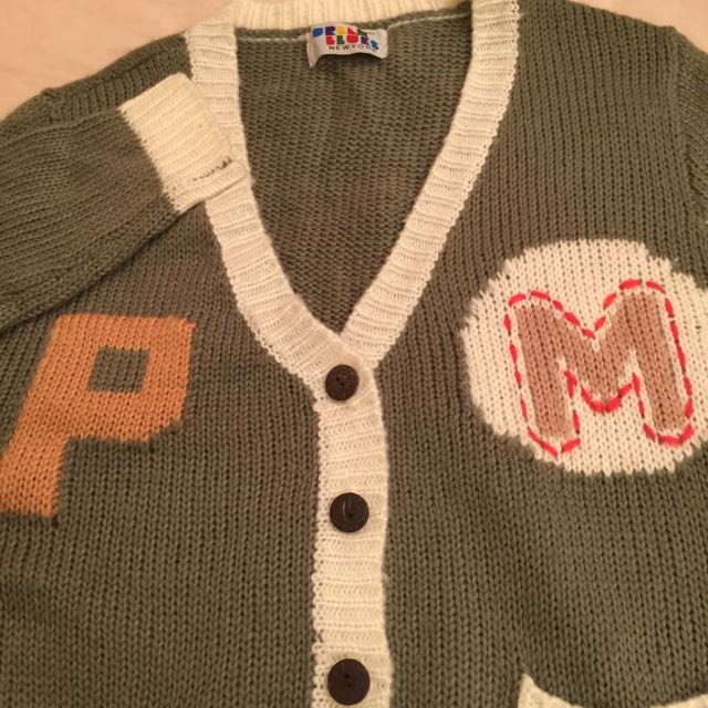 字母針織外套