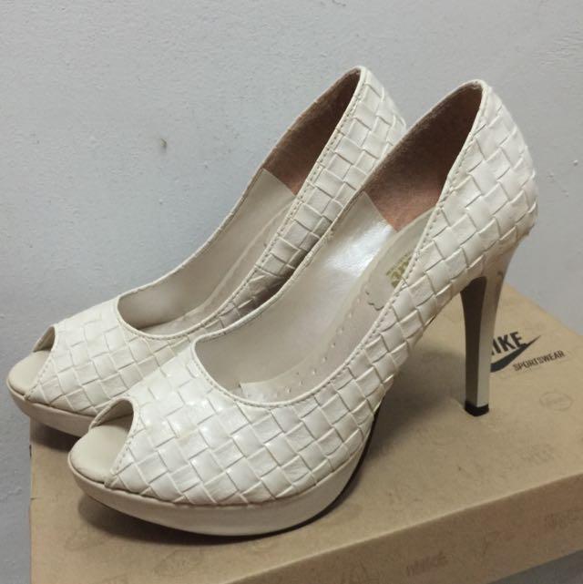 編織魚口高跟鞋