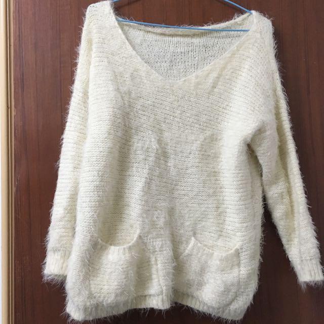 (二手 含運)米白色毛衣